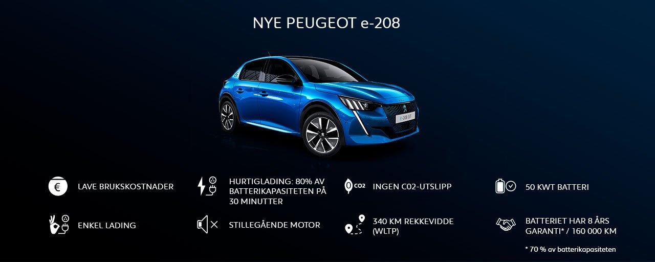 Peugeot e-208 - fordeler